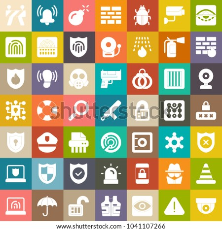 Security icons, protection icons, safety icons,  computer secure key sign