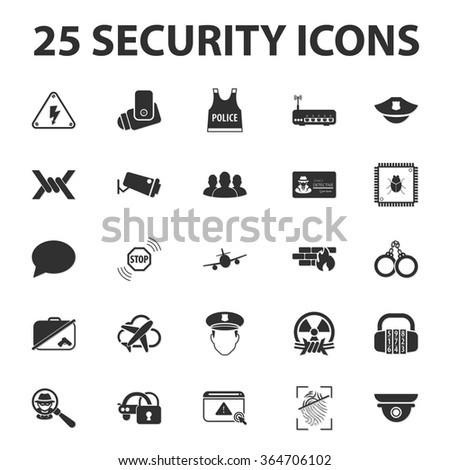 security icons set security