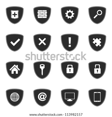 Security icons set, vector eps10 illustration