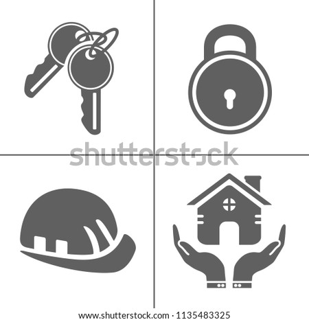 security icons  vector...