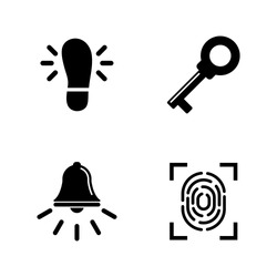 Security Measures. Simple Related Vector Icons Set for Video, Mobile Apps, Web Sites, Print Projects and Your Design. Security Measures icon Black Flat Illustration on White Background.