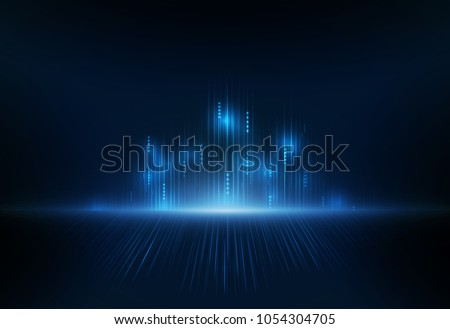 Security network background with sunrise. Vector illustration.
