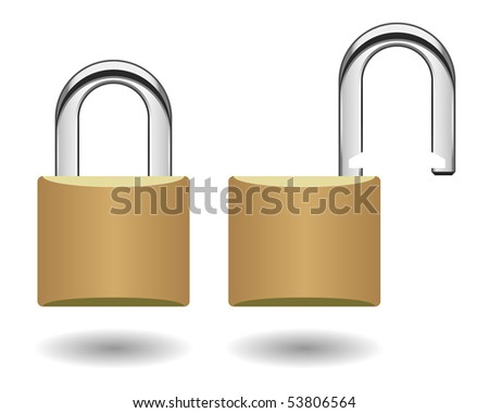 Security Padlock Vector