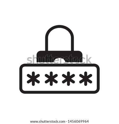 Security password icon in trendy flat style design. Vector graphic illustration. Suitable for website design, logo, app, and ui. EPS 10.