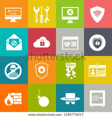 Security safety and Security icons set - protection sign and symbols