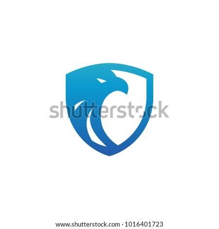 security shield blue eagle logo