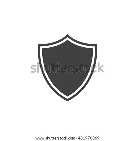 Security shield icon vector, protection solid logo illustration, pictogram isolated on white