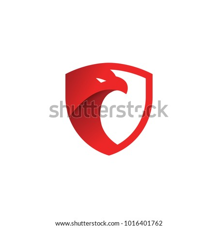 security shield red eagle logo