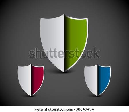 security shield symbol icon vector illustration.