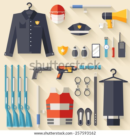 security uniform and set