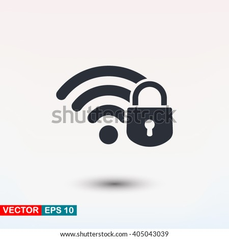 Security wifi icon