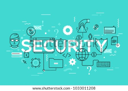 security word surrounded by
