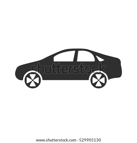 sedan car model icon  vector
