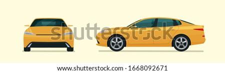 sedan car two angle set car