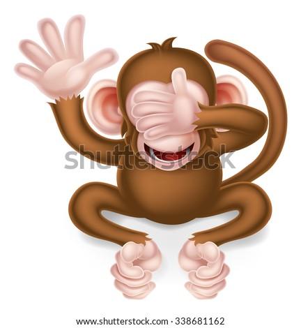 see no evil cartoon wise monkey
