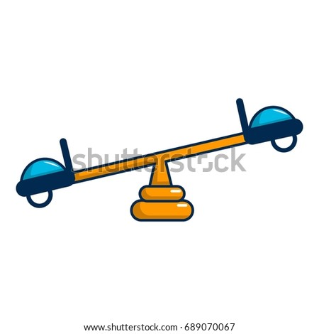 See saw icon. Cartoon illustration of see saw vector icon for web design