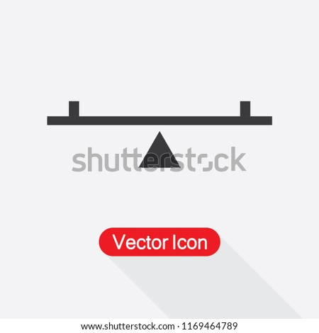 See Saw Icon Vector Illustration Eps10