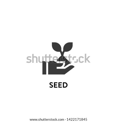 seed icon vector. seed vector graphic illustration