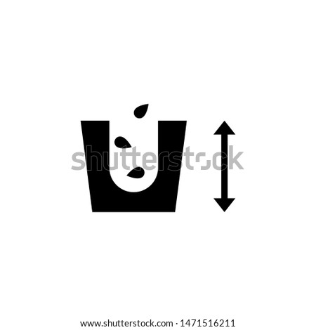 Seeding, Agriculture, Planting Seeds. Flat Vector Icon illustration. Simple black symbol on white background. Seeding, Agriculture, Planting Seeds sign design template for web and mobile UI element