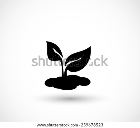 Seedling icon vector