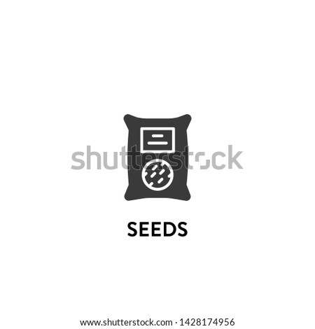 seeds icon vector. seeds vector graphic illustration