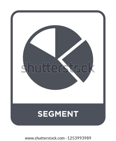 segment icon vector on white background, segment trendy filled icons from Geometric figure collection, segment simple element illustration