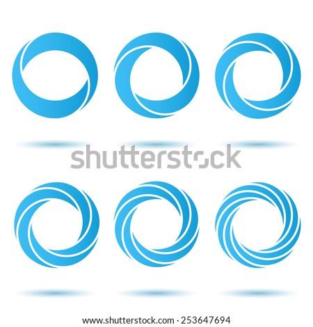 Segmented o letter set, 3d illustration, isolated, vector, eps 8