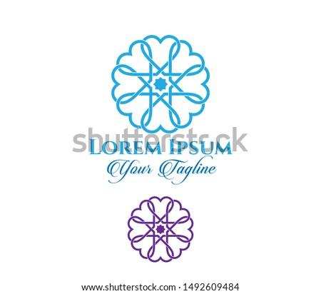 Selcuklu and Ottoman Mosaics, architectural mosaics vector logo template