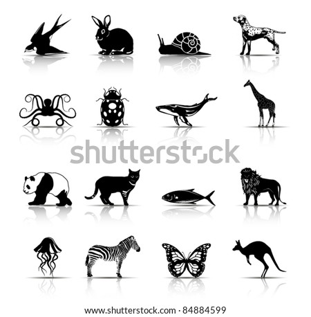 selected animals symbols icons