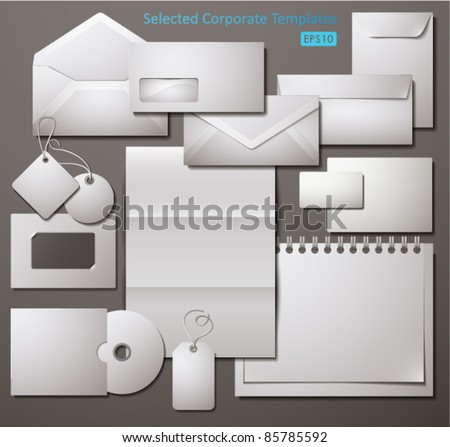 Selected Corporate Templates. Vector Illustration.