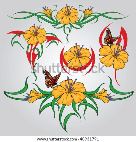 clip art flowers and butterflies. clip art flowers and