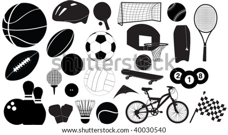 selection of sport silhouettes
