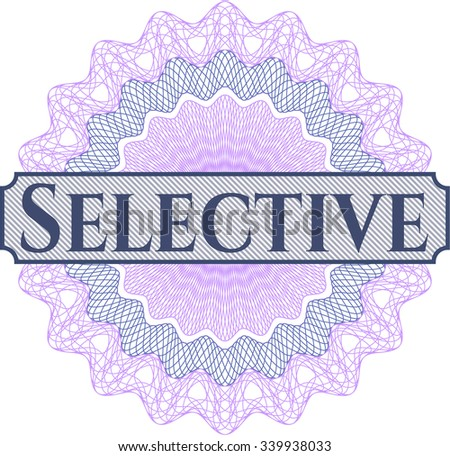 Selective abstract rosette