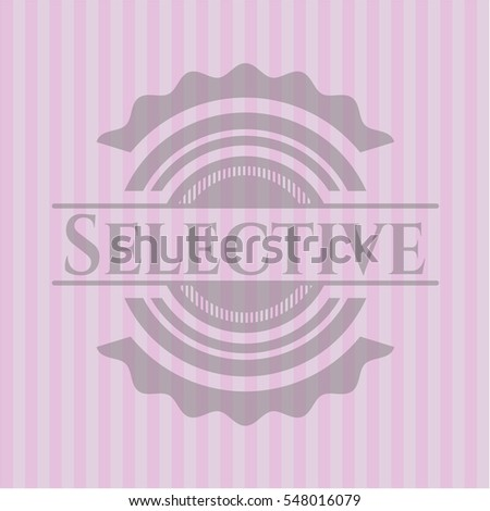 selective badge with pink