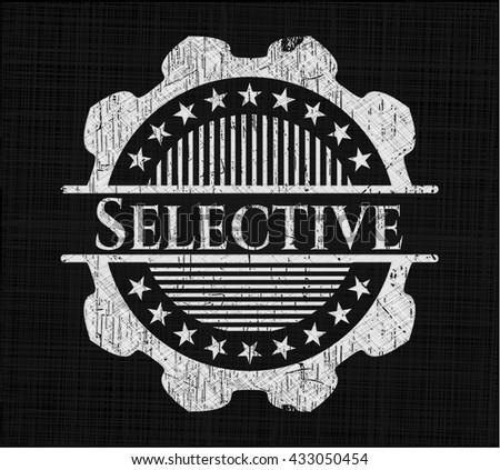 Selective chalkboard emblem