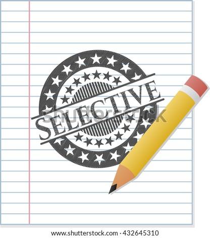 Selective emblem drawn in pencil