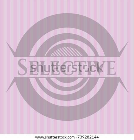 selective pink emblem retro