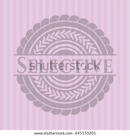 selective pink emblem vintage
