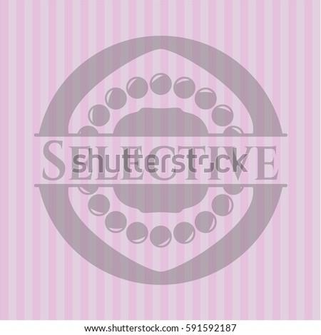 selective realistic pink emblem