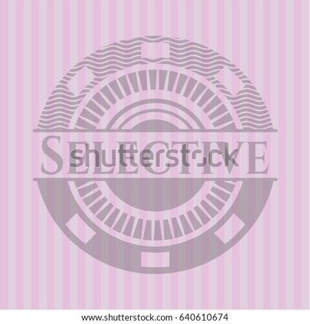 selective retro pink emblem
