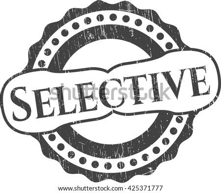 Selective rubber stamp