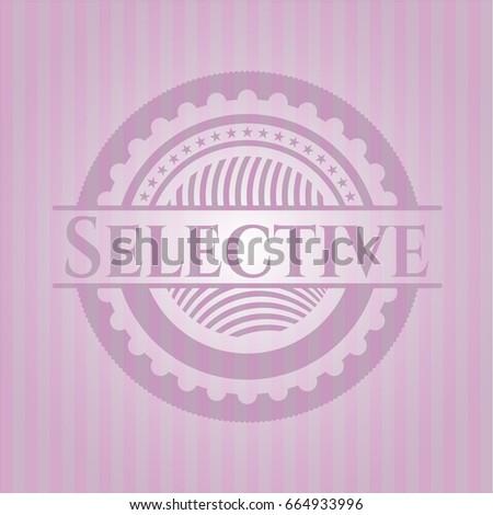 selective vintage pink emblem