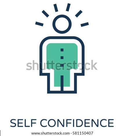 Self Confidence Vector Icon