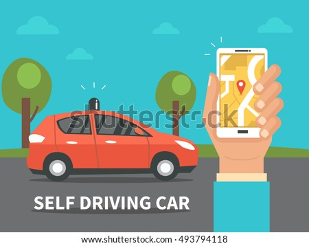 self driving car concept
