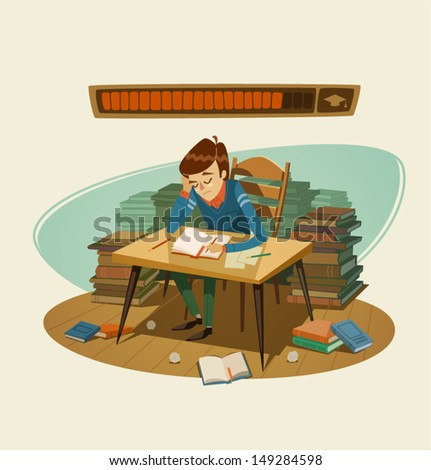 Self education Vector illustration