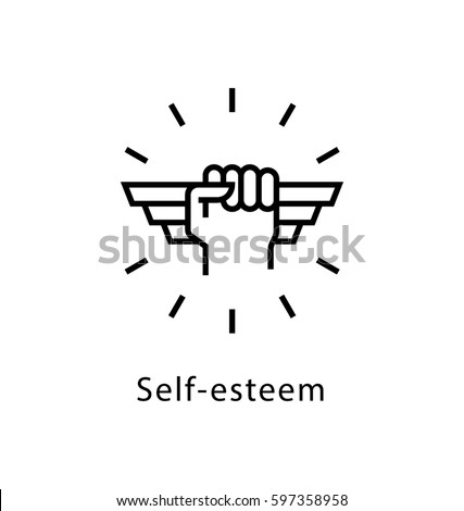Self Esteem Vector line Icon