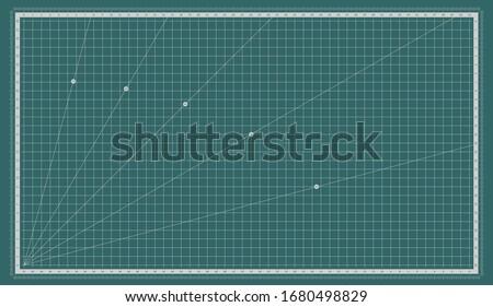 Self healing cutting mat. Cut board with a metric measuring grid. Foto stock ©