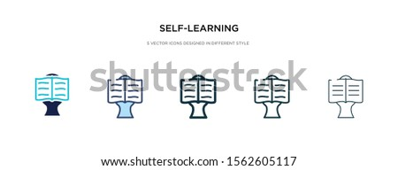 self-learning icon in different style vector illustration. two colored and black self-learning vector icons designed in filled, outline, line and stroke style can be used for web, mobile, ui