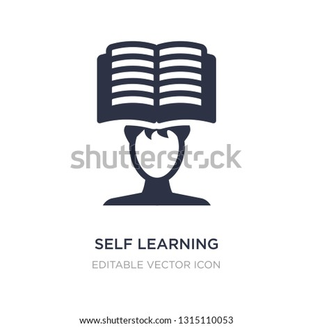 self learning icon on white background. Simple element illustration from Other concept. self learning icon symbol design.