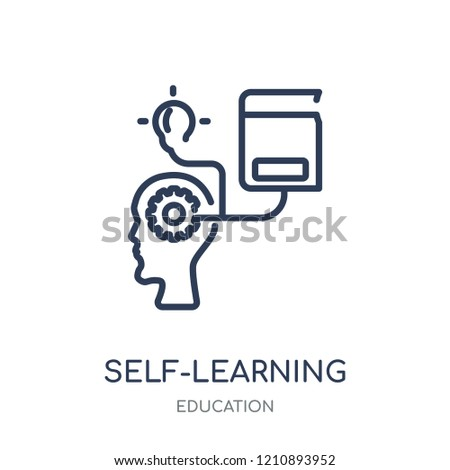 self-learning icon. self-learning linear symbol design from Education collection.